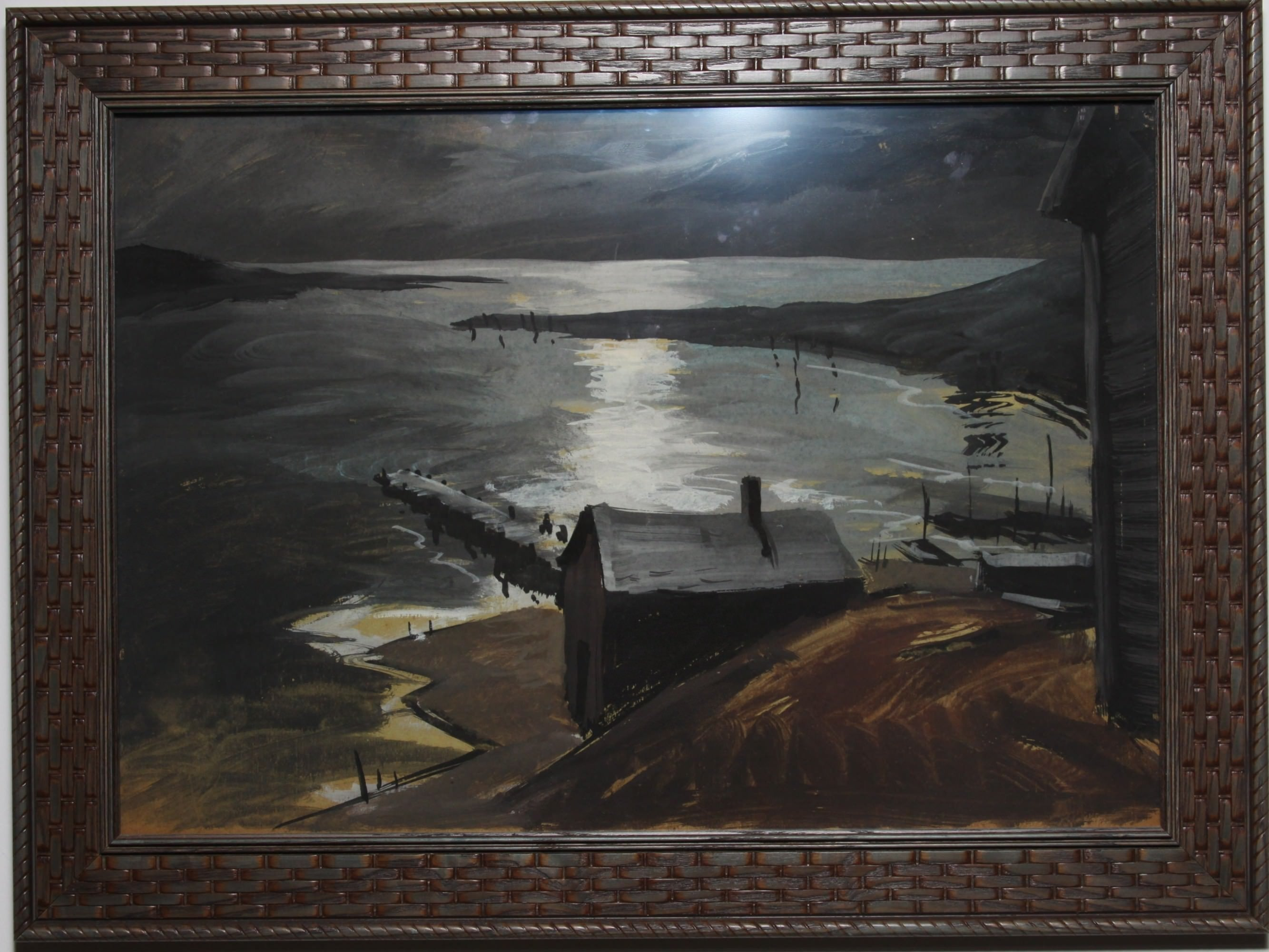 Gärtner carl frederick gaertner moonlit harbor collection wolfs paintings and sculpture