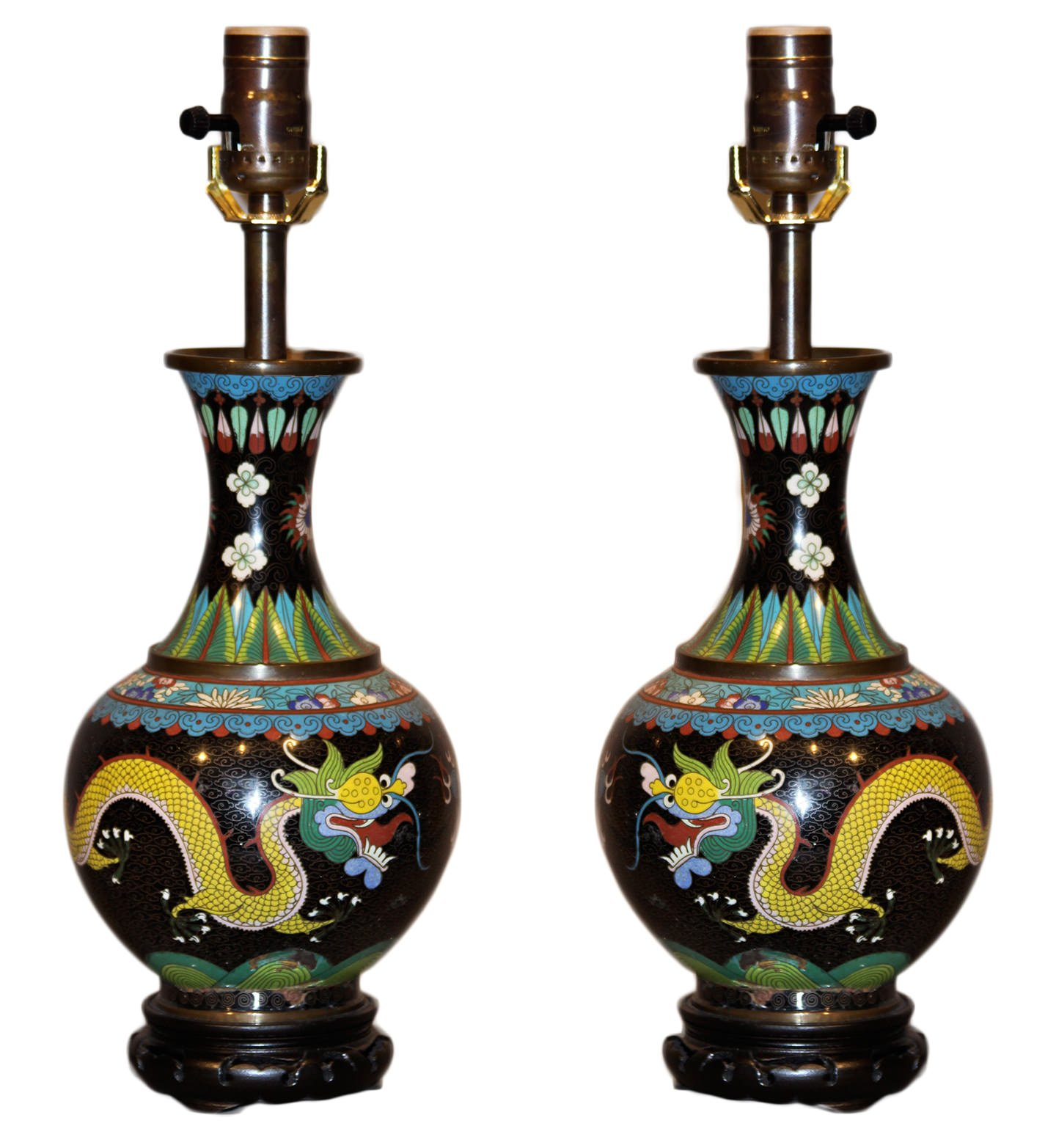 A pair of chinese cloisonne vases fitted as table lamps a pair of chinese cloisonne vases fitted as table lamps reviewsmspy