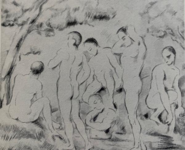 Les Baigneurs by Paul Cezanne