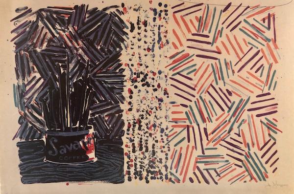 Untitled (Fields) by Jasper Johns