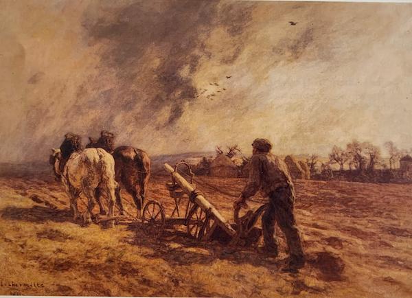 The Ploughman by Leon Augustin Lhermitte