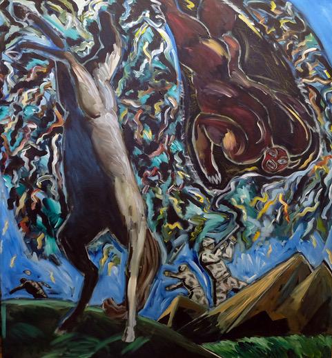 Horse Frightened by Demon by Ken Nevadomi