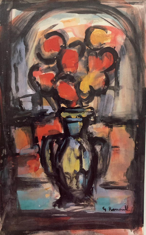 Still Life with Vase of Flowers by Georges Rouault