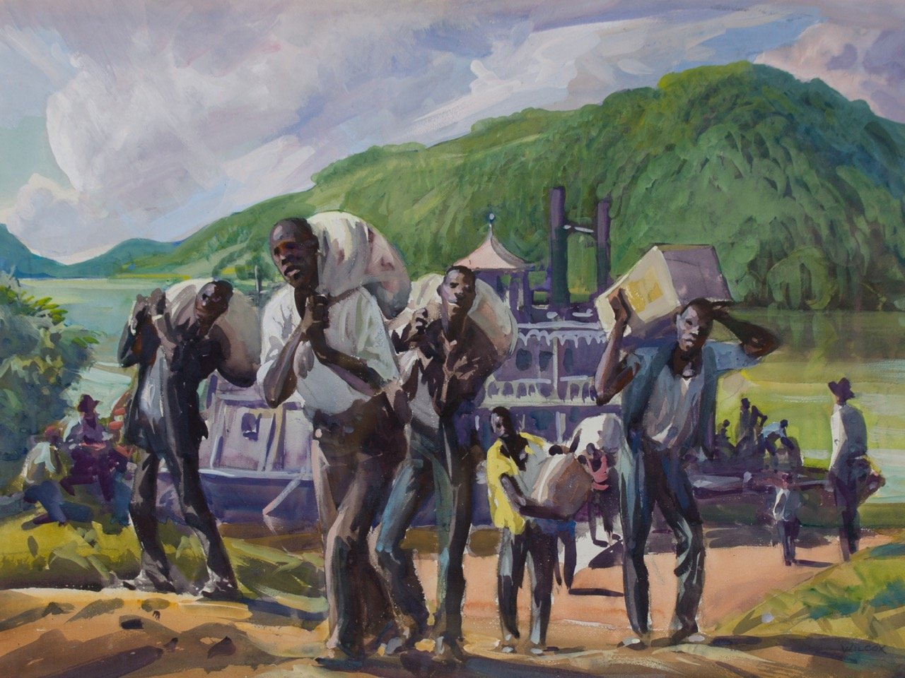 Stevedores, Ohio River by Frank Nelson Wilcox