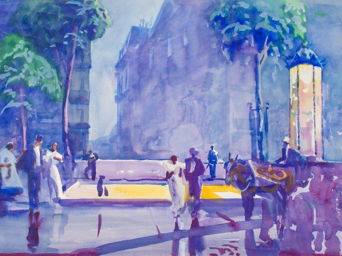 Rainy Paris by Frank Nelson Wilcox