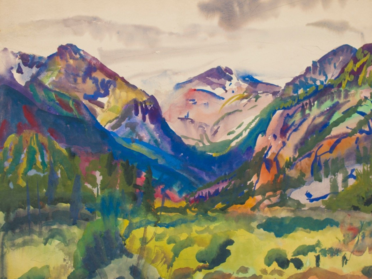 Shower at Head of Valley by Frank Nelson Wilcox