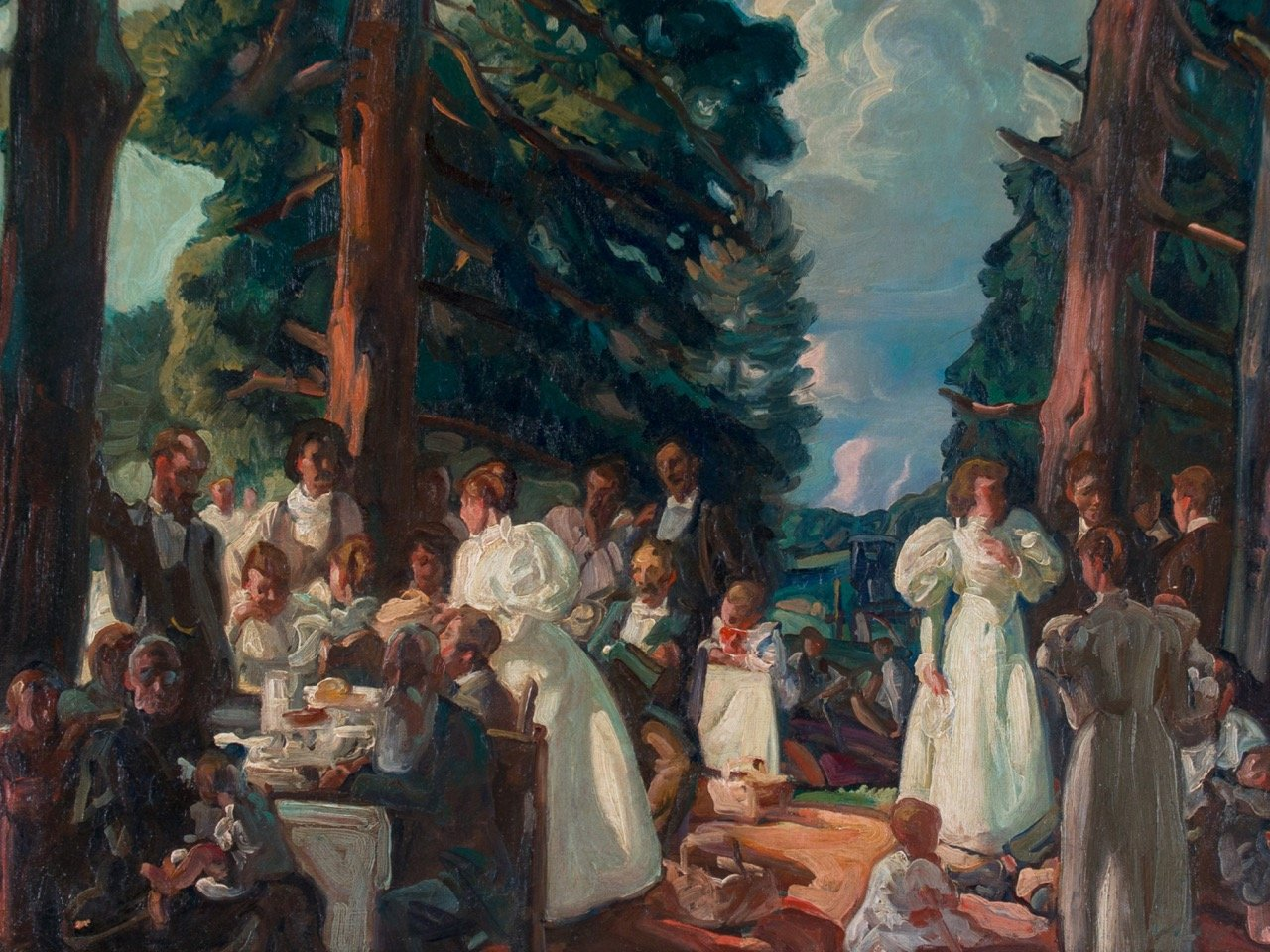The Reunion, Brecksville, Ohio by Frank Nelson Wilcox