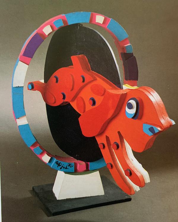 Dog Through Hoop by Karel Christiaan Appel