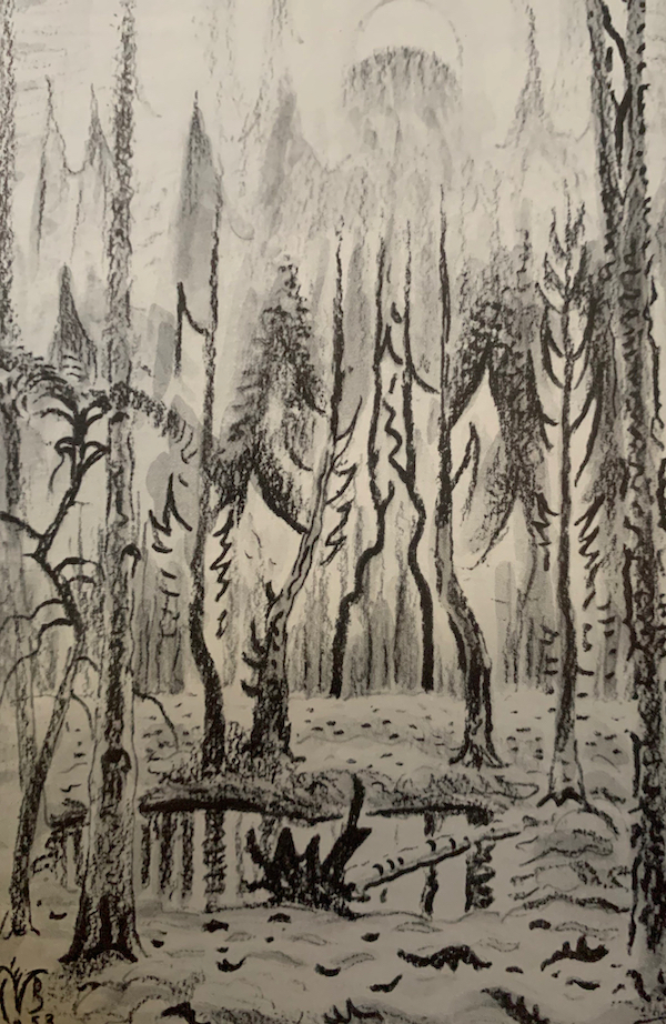 Woodland Pool in Spring by Charles Burchfield