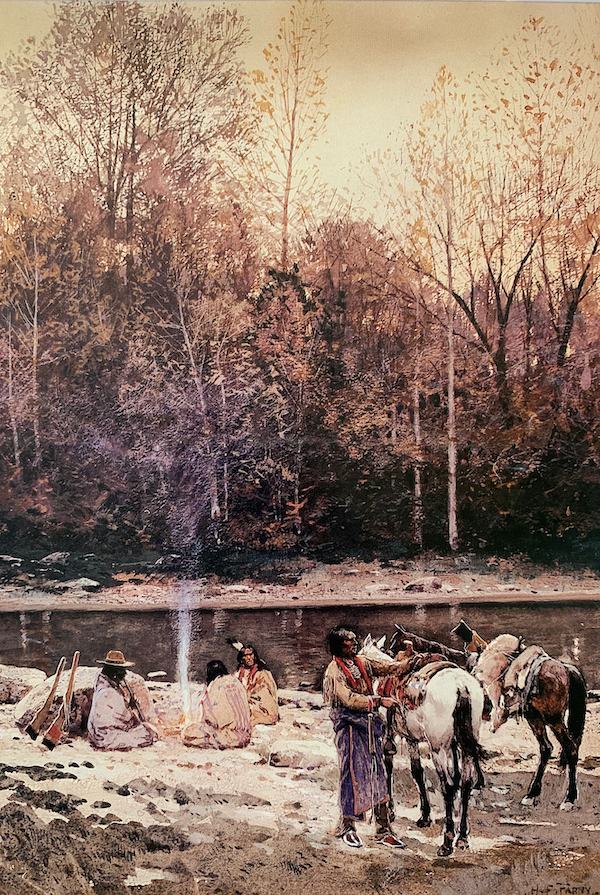 The Hunting Party by Henry Farny