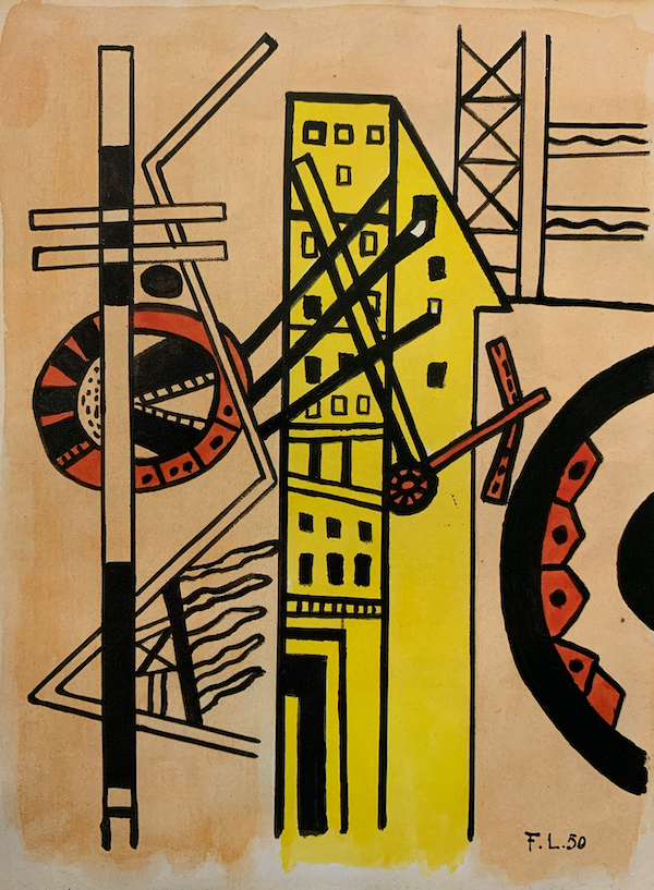 Study for Les Illuminations by Fernand Leger