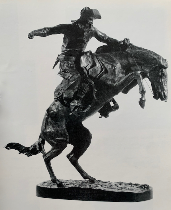 The Bronco Buster by Frederic Remington