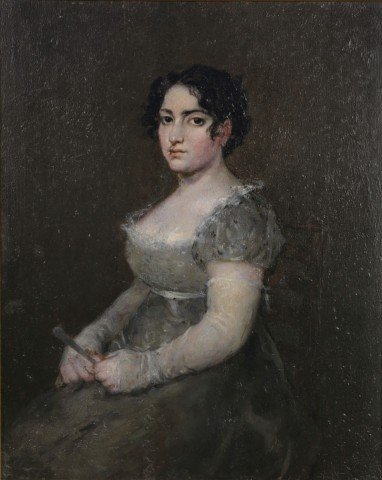 After Francisco Goya-Portrait of a Lady with a Fan