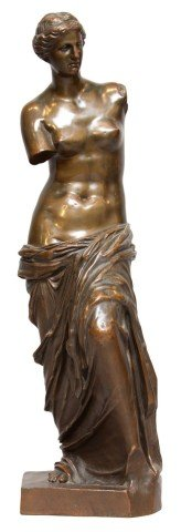 Figurative Bronze with Reddish Brown Patination: