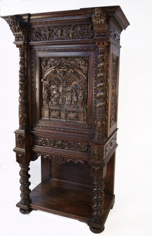 19th Century Italian Renaissance Revival Court Cupboard