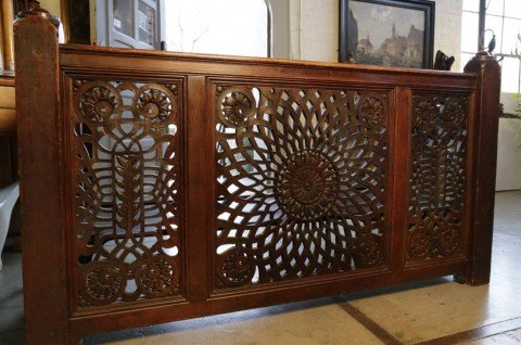 American Aesthetic Movement Pierce Carved Balcony Rail