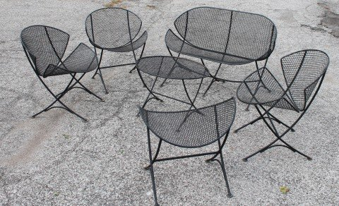Maurizio Tempestini Clamshell or Orange Slice Garden Furniture by 20th Century Italian School