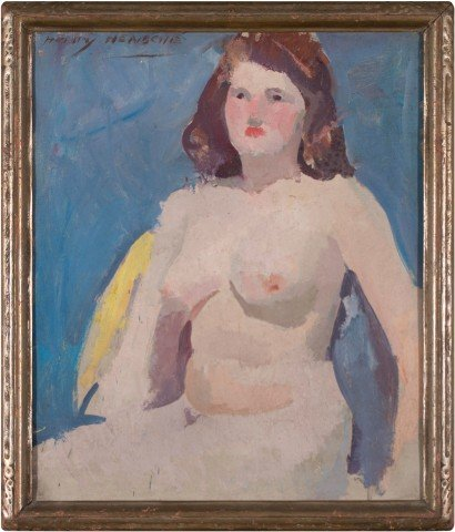 Seated Nude by Henry Hensche