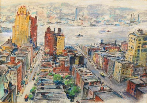 Hudson River from New York by Michael Zelenko