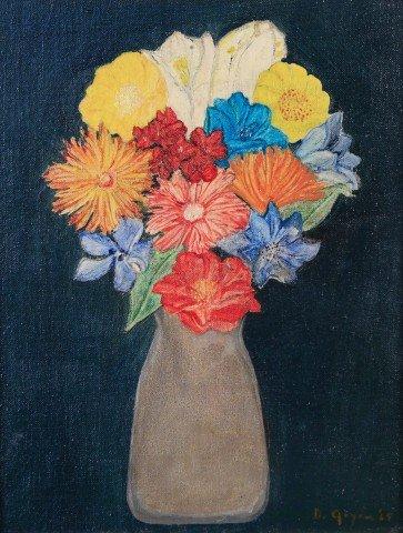 Still life, Flowers in Vase by Doris Roberts Goyen