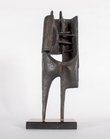 Abstract Bronze Sculpture:
