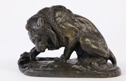 Antoine Louis Bayre, Bronze, Lion with Snake