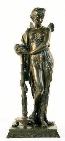 A Bronze Figure of Psyche by 19th Century Italian School