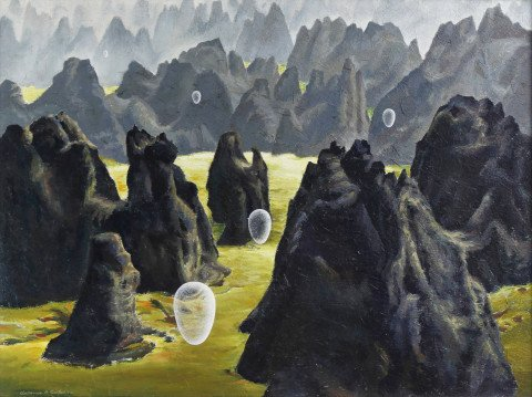 Landscape Acrylic on Scintilla Painting: