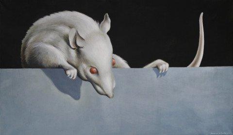 Animal Oil on Canvas Painting: