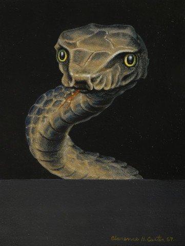 Animal Casein on Board Painting: