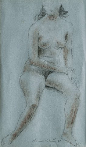 Seated Nude (#18) /F. Nude