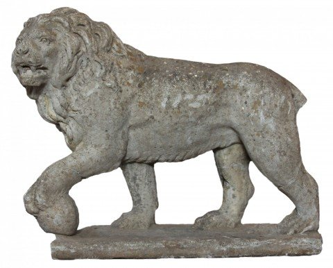 A Cast Stone Figure of a Lion