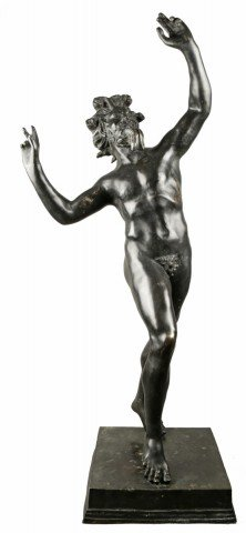 Grand Tour Bronze of the Dancing Faun, after the antique by 19th Century Italian School