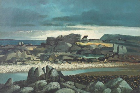 Irish Coastal Landscape by Daniel O'Neill