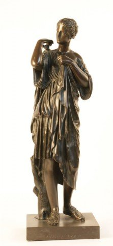 19th Century Bronze Figure of Diana of Gabii by 19th Century Italian School