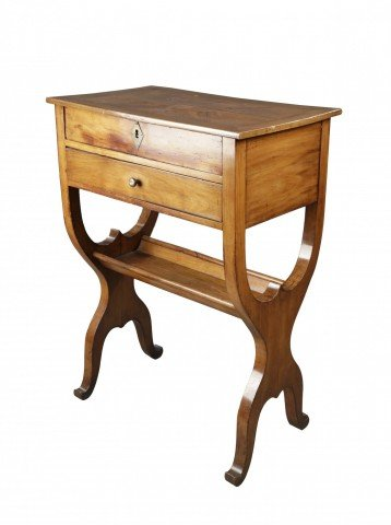 Provincial French Fruitwood Occasional Table, Directoire by 18th Century French School