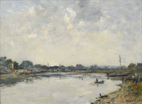 Si-VallerySur Somme by Eugene Boudin