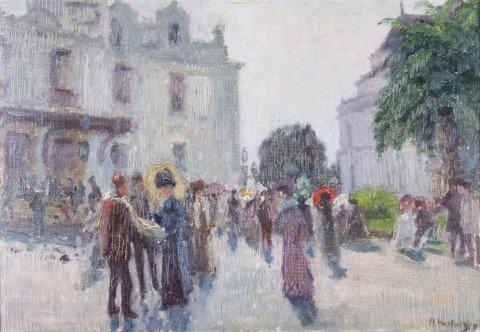 Boulevard Scene, Paris