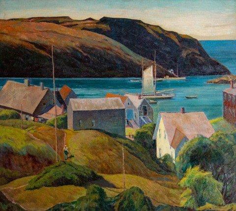 Harbor at Monhegan Island