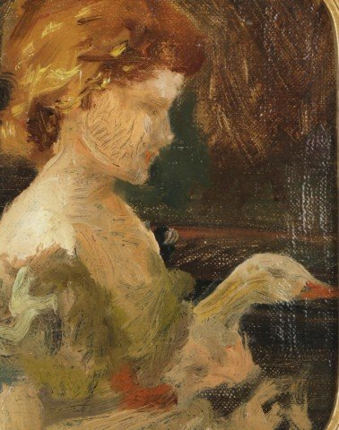 Goose Girl by 20th Century American School