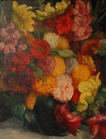 Still Life, Summer Flowers by Henry George Keller