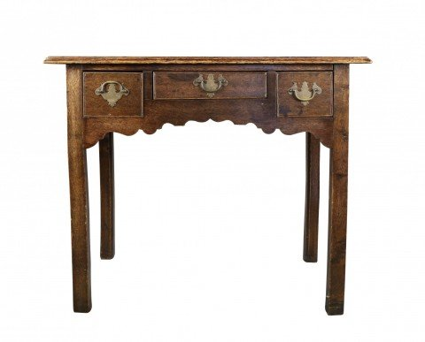 English George III Oak Lowboy