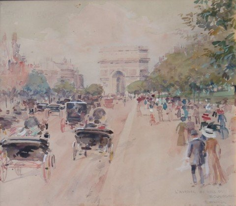 L'Avenue du Bois de Boulogne by Luther E. Van Gorder
