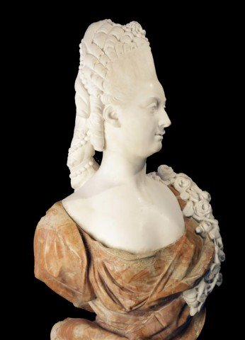 Marble Bust of Marie Antoinette by Simon Louis Boizot