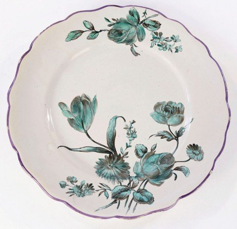 A Marseille Faience Dish by 18thc. French School