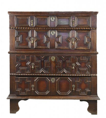 English Jacobean Oak Chest