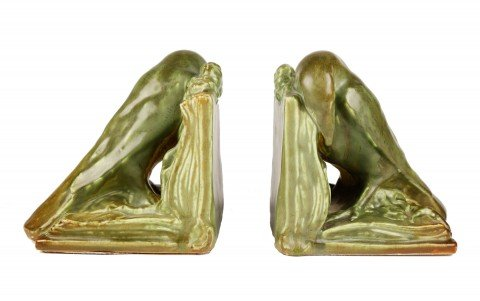 Pair of Rookwood Bookends