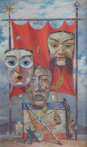 Three Masks by Paul Riba