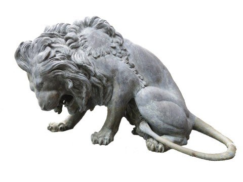 Pair of Monumental Bronze Lions after Antoine Louis Barye by 18thc. French School