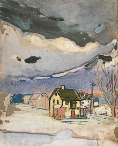 Study for 'Houses and Pink Clouds', Lakewood